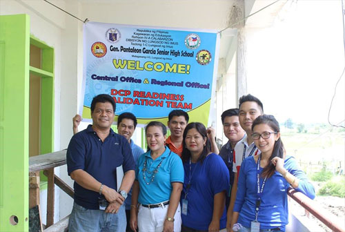 Mr. June Bence L. Adelan, two DepED Imus SHS school heads and some school ICT coordinators pose for a photo after the validation process conducted by Mr. Arturo D. Tuazon